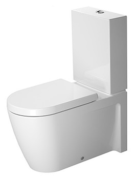 Duravit Starck 2 630mm Close Coupled WC With Dual Flush Cistern