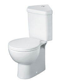 Ideal Standard Space Close Coupled Toilet With Corner Cistern And Seat