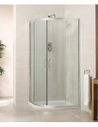 April Identiti2 900 x 900mm Double Door Quadrant Shower Enclosure -Silver