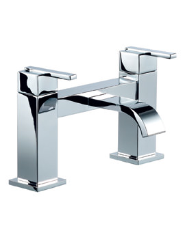 Mayfair Ice Fall Lever Deck Mounted Bath Filler Tap Chrome