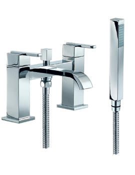 Mayfair Ice Fall Lever Bath Shower Mixer Tap With Shower Handset