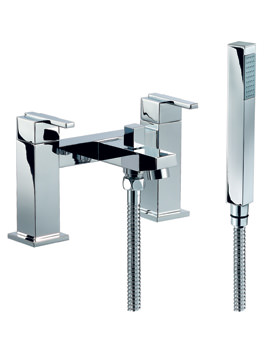 Mayfair Ice Quad Lever Bath Shower Mixer Tap With Shower Handset