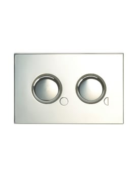 Twyford Air Button With 80 x 124mm Mini Plate For Dual Flush Cistern