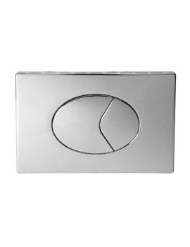 Twyford Air Button With 150 x 230mm Large Plate For Dual Flush Cistern