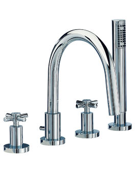 Mayfair Series C 4 Tap Hole Bath Shower Mixer Tap With Kit Chrome