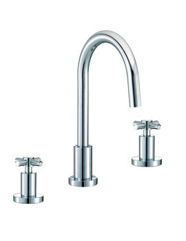 Mayfair Series C 3 Tap Hole Basin Mixer Tap With Pop Up Waste Chrome