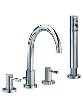 Mayfair Series F 3 Hole Bath Shower Mixer Tap With Shower Kit Chrome