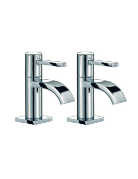 Mayfair Wave Lever Pair Of Basin Tap Chrome
