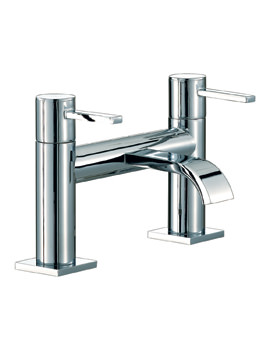 Mayfair Wave Lever Deck Mounted Bath Filler Tap Chrome