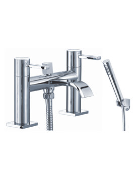 Mayfair Wave Lever Bath Shower Mixer Tap With Shower Handset