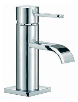 Mayfair Wave Lever Mono Basin Mixer Tap With Pop Up Waste