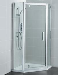 Ideal Standard Synergy 800mm Pivot Door Pentagon Shower Enclosure