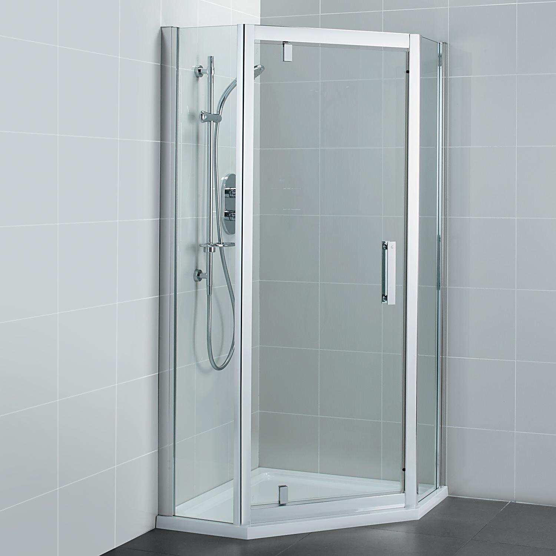 Ideal Standard Synergy 800mm Pivot Door Pentagon Shower