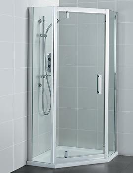 Ideal Standard Synergy 900mm Pivot Door Pentagon Shower Enclosure