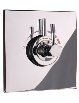 Mayfair Contemporary Lever Concealed Shower Valve With Square Plate