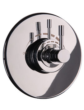 Mayfair Contemporary Lever Concealed Shower Valve With Round Plate