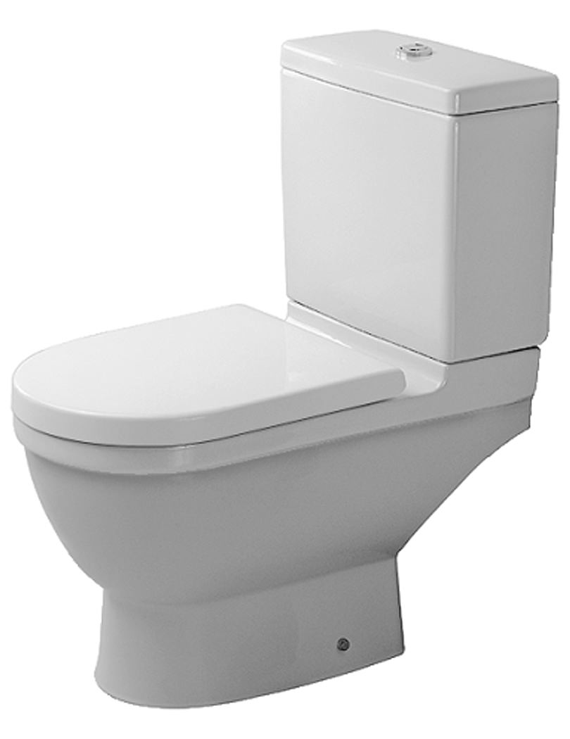 duravit starck 3 close coupled toilet and cistern with seat 655mm. Black Bedroom Furniture Sets. Home Design Ideas
