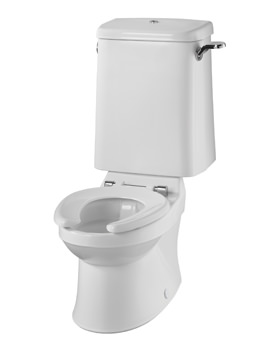 Twyford Sola School Rimless Close Coupled 300mm Wide WC Pan