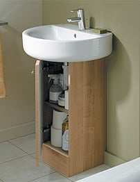 Ideal Standard Concept 30cm Basin Pedestal Unit - American Oak