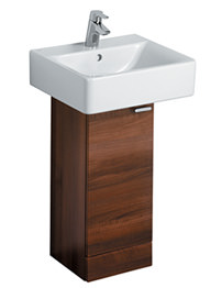 Ideal Standard Concept 30cm Basin Pedestal Unit - Dark Walnut