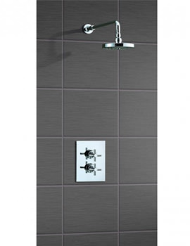 Mayfair Contemporary Crosshead Shower Set With Dual Control Concealed Valve