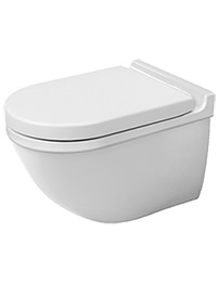 Duravit Starck 3 620mm Wall Mounted Toilet With Seat And Cover