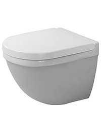 Duravit Starck 3 485mm Compact Wall Mounted Toilet With Seat And Cover
