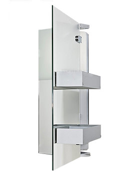 Duravit Starck 1 600mm Mirror Cabinet With 2 Wooden Boxes