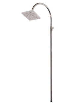 Mayfair Wave Lever Adjustable Fixed Riser And Square Shower Head
