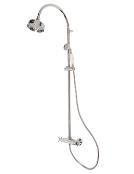 Mayfair Traditional Crosshead Shower Set With Exposed Bar Shower Valve