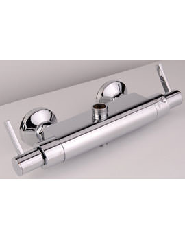 Mayfair Wave Dual Outlet Thermostatic Bar Valve With Diverter Chrome