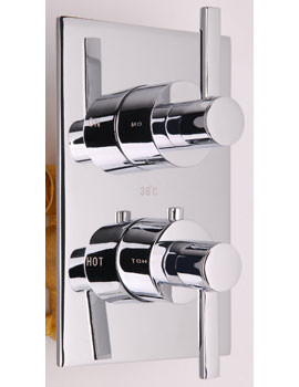 Mayfair Wave Concealed Shower Valve With Rectangular Plate Chrome