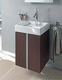 Duravit Starck 1 Oak Quadrate 500 x 450mm Wall Mounted Vanity Unit And Basin