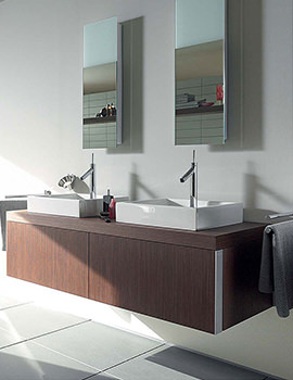 Duravit Starck 1 Oak 1435 x 565mm Wall Mounted Vanity Unit