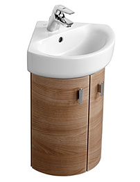 Ideal Standard Concept 38cm Wall Hung Corner Basin Unit - Oak