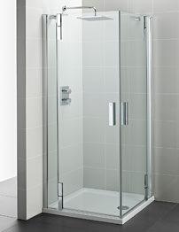 Ideal Standard Tonic Flat Top 1000mm Hinged Door Corner Entry Enclosure