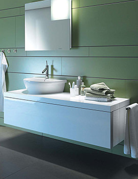 Duravit Starck 1 Oak 1235 x 565mm Wall Mounted Vanity Unit