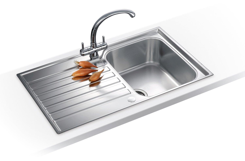 Franke Ascona Sink : Franke Ascona ASX 611-860 Propack - Stainless Steel Sink And Tap