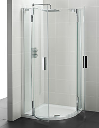 Ideal Standard Tonic 800mm Quadrant Shower Enclosure For Upstand Tray