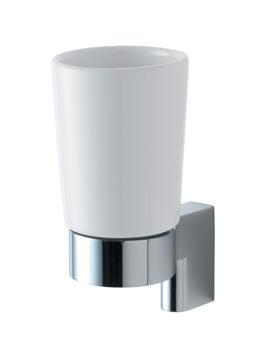 Ideal Standard Concept Ceramic Tumbler With Chrome Holder