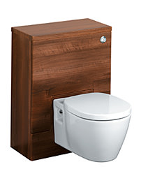 Ideal Standard Concept 50cm WC Unit With Cistern - Dark Walnut