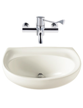 Twyford Sola Spectrum 500 x 410mm Concealed Outlet Washbasin