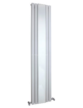 Hudson Reed Sloane 381x1800mm Double Panel Radiator With Mirror - White