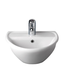 Twyford Sola Optimise 450 x 380mm Semi-Recessed Basin