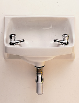 Twyford Parmis 500 x 300mm 2 Tap Hole Semi-Recessed Handrinse Basin