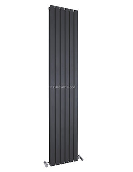 Hudson Reed Sloane 354x1800mm Double Panel Vertical Radiator - Anthracite