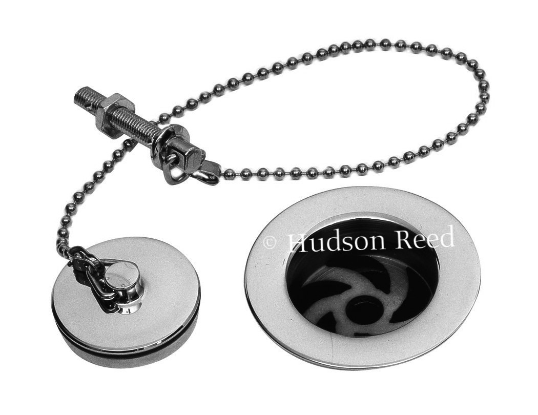 hudson reed basin waste with brass plug and ball chain. Black Bedroom Furniture Sets. Home Design Ideas