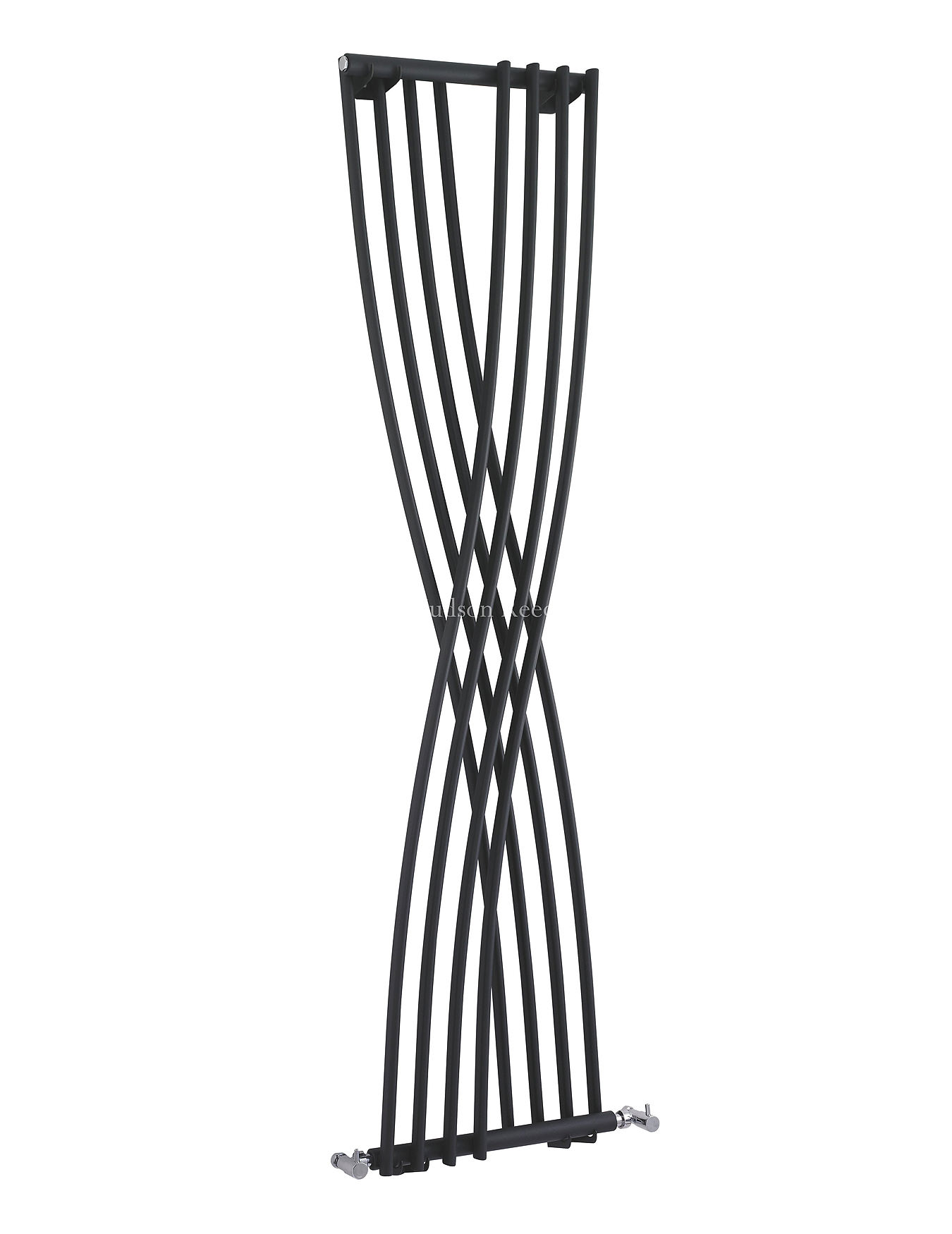 hudson reed xcite 450x1775mm designer radiator black. Black Bedroom Furniture Sets. Home Design Ideas