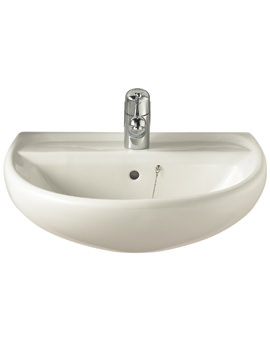 Twyford Sola 600mm 1 Tap Hole Washbasin