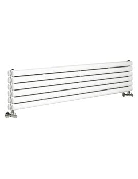 Hudson Reed Revive 1800x354mm Double Panel Horizontal Radiator - White